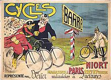 RARE Original 1900 French Bicycle Poster