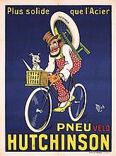 Original 1900s/10s French Hutchinson Tire Poster MICH
