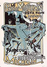 RARE Original 1910s French Michelin Tire Poster DELASPR