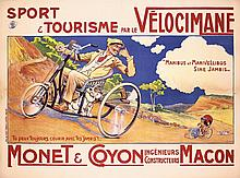 Original 1900s French Bicycle Poster VELOCIMANE