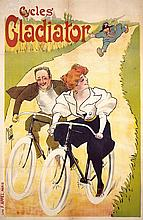RARE French Original 1895 Gladiator Cycles Poster MISTI