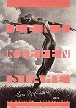 Rare Original 1990s SIGNED LENI RIEFENSTAHL Art Poster
