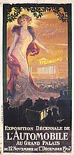 RARE Original 1900s French Automobile Poster ROCHEGROSSE