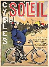 Original 1900s/10s French Bicycle Poster CYCLES SOLEIL