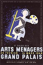 GREAT Original 1940s French Art & Design Poster BERNARD