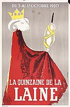 2 Old Original French Wool Advertising Posters