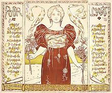 RARE Original 1890s Art Expo Poster HANNOTIAU