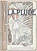 Original 1898 ALPHONSE MUCHA Magazine Cover Print Plume