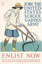 Rare 1918 PENFIELD American WW I Garden Army Poster