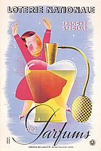 Set of 3 Original 1930s / 1950s French Lottery Posters
