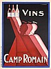 Original 1920s/30s French Art Deco Wine Poster