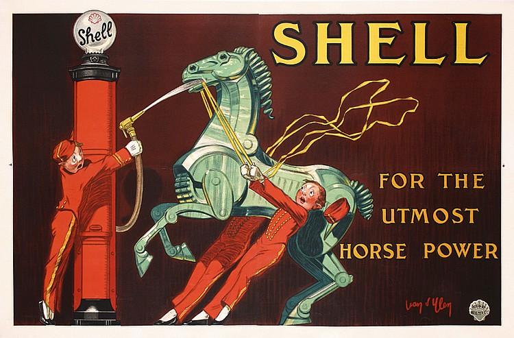 Rare Original Jean D´Ylen Shell Poster Plakat