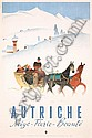 Old 1950s Austrian Winter Travel Poster Plakat KOSEL