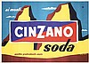 Original 1950s Italian Cinzano Drink Advert Poster