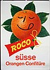 Funny Original 1960 Swiss Design Orange Poster Plakat