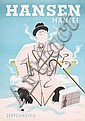 Old 1940s German Clothing Poster EHLERS Design Plakat, Henry Ehlers, Click for value