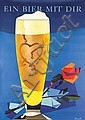 Original 1950s Swiss Beer Poster DONALD BRUN Art