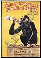 ORIG 1920s Anisetta Evangelisti Monkey Liquor Poster
