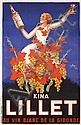 Original 1930s French Liquor Poster Kina Lillet ROBY