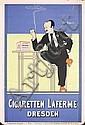 RARE Original 1890s Fritz Rehm German Cigarette Poster