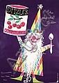 Funny Original 1940s HERBERT LEUPIN Food Poster Plakat