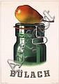 RARE Original 1930s BIRKHAUSER Bülach Poster Plakat