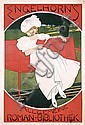 Original 1890s German Art Nouveau Book Advert Poster