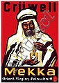 Original 1930 Crüwell Mekka Arab Tobacco Poster Germany