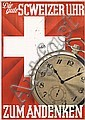 Stunning Original 1930s Swiss Watch Advertising Poster