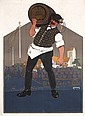Original 1900s Lowenbrau Munich Beer Poster CARL MOOS