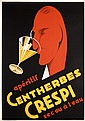 Original 1930s French Art Deco Poster CRESPI