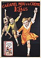 Great Old Original 1920s Italian Chocolate Klaus Poster