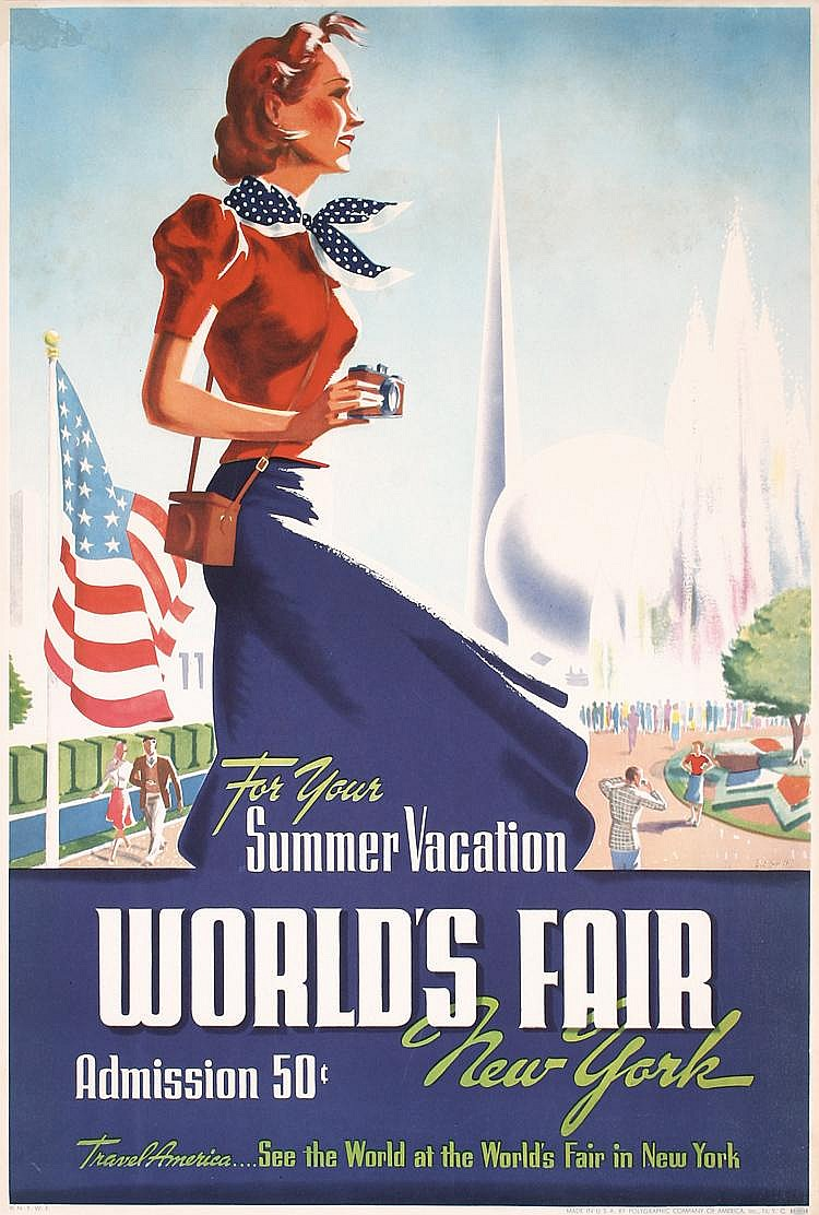 Original 1939 New York World´s Fair Poster Plakat SMITH