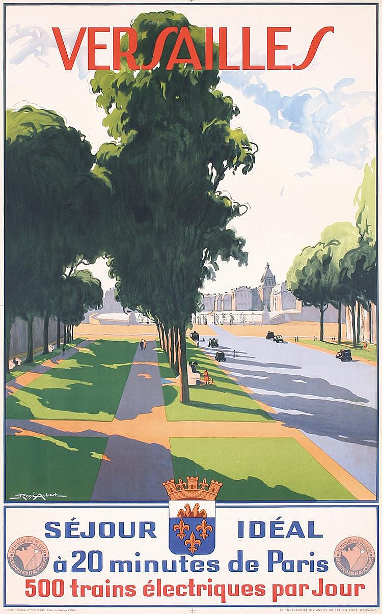 Original 1930s French Travel Poster Paris VERSAILLES