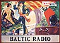 Original 1920s/30s Spanish BALTIC RADIO Poster
