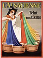 Old Original 1930s French Advertising Poster Alsacienne