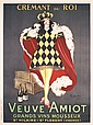 Original 1920s CAPPIELLO King Liquor Poster Veuve Amiot