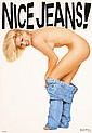 Original 1980s Blue Jeans Advertising Poster