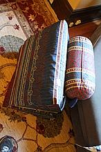 Thai Reclining Silk Cushion & A Large Kilim  C