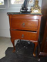 Two Drawer Cedar Bedside Cabinet Together With