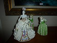 Three Figurees Including Comport