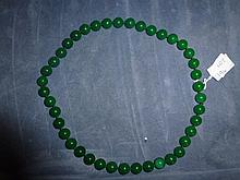 Lovely Chinese Jade Beaded Necklace