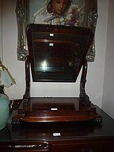 Flamed Mahogany Victorian Dressing Table Mirror