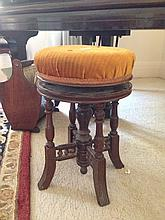 Late Victorian Walnut Piano Stool