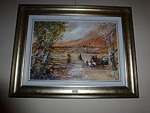Maynard Waters oil on board, The Nipper, Signed