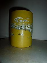 Chinese Porcelain Brush Pot Hand Painted With