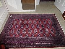 Rug, hand made Bokhara, origin Pakistan (inlaid