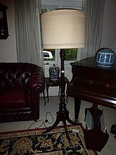 Georgian Stye Standard Lamp With Sprayed Out legs