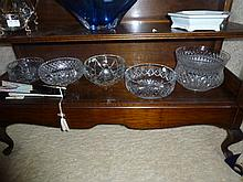 Assorted Crystal Bowls Including Bohemia