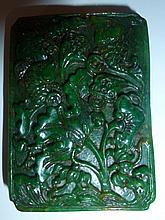 Chinese Jade Carving Decorated With Carp & Lilly